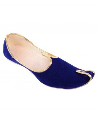 Blue Velvet Khussa