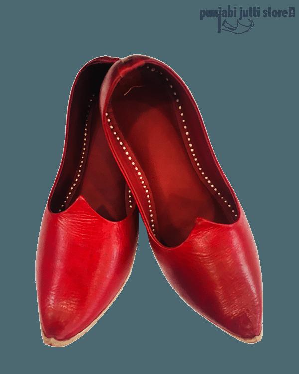 Red Designer Khussa
