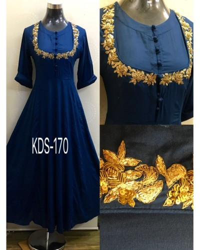 Blue Ethnic Gown
