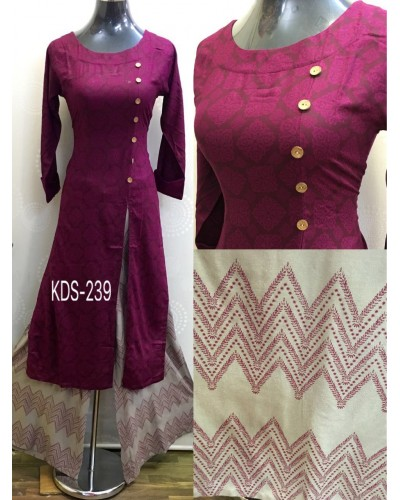 Purple Ethnic Dress