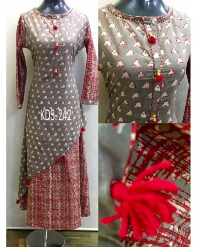 Printed Ethnic Gown