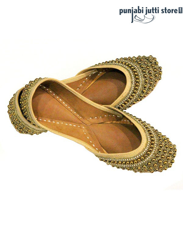 Golden Beaded Jutti