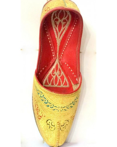 Golden Pakistani shoes