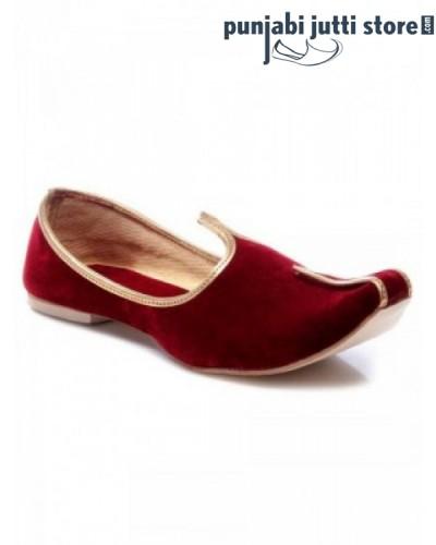 Red Velvet Khussa